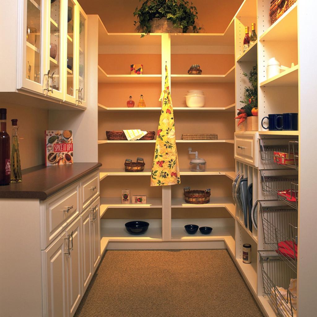 White Pantry Shelving System: Custom Pantry Shelving Systems, Corner Pantry Organizing