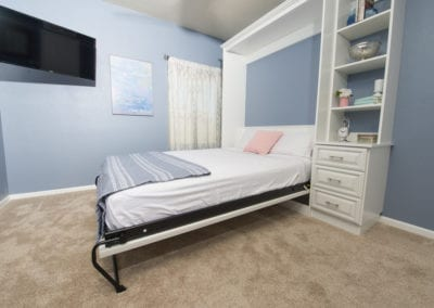 Classic White Wall Bed (down)