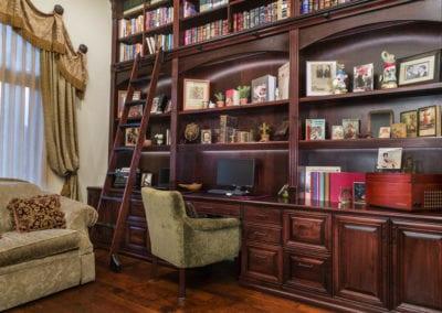 Dark Wood Home Office