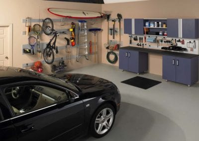 Garage with Omni Track