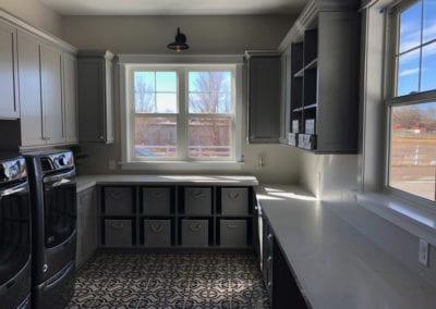 Gray Traditional Laundry Room