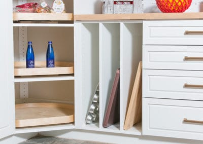 Side View of Pantry Shelves